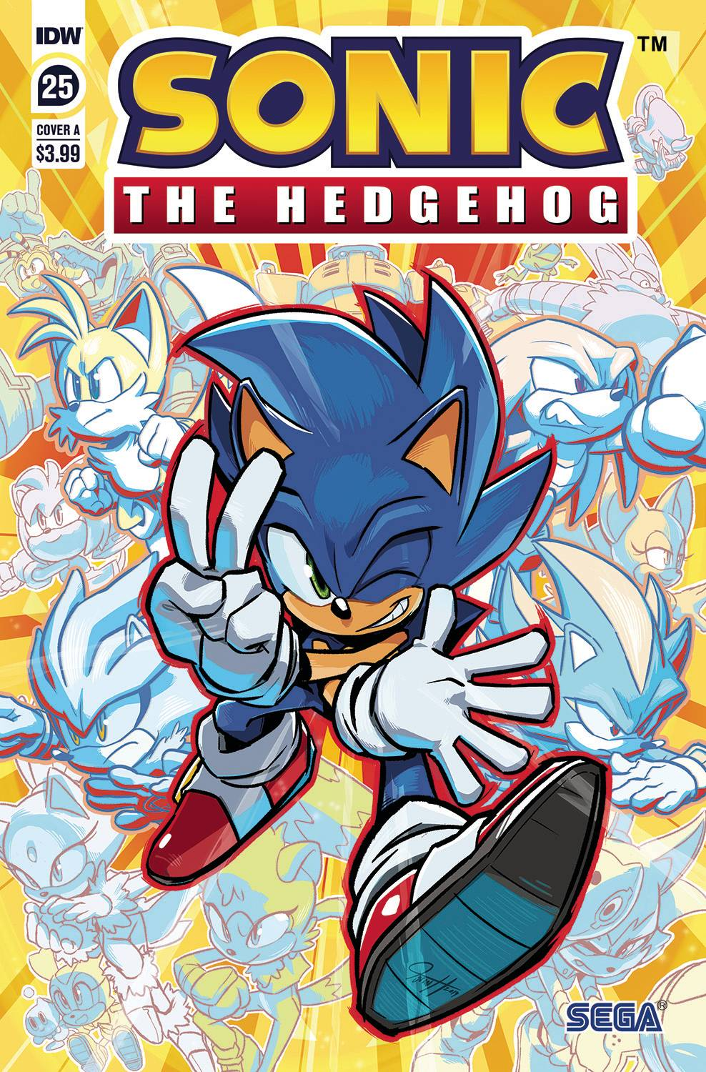Sonic The Hedgehog 25 Cover A Hesse