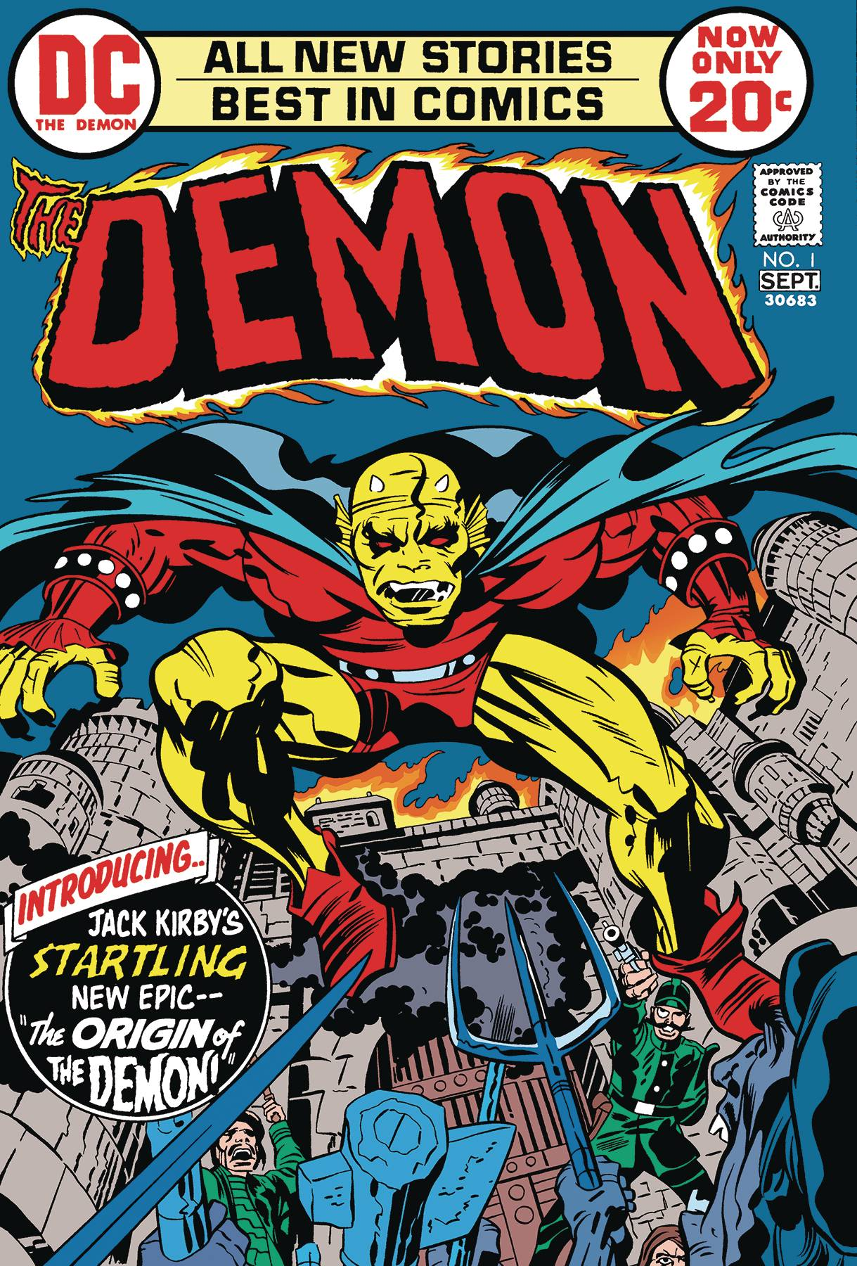 Red Pegasus Comics Demon By Jack Kirby Graphic Novel